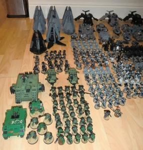 Salamanders, Terminators, Drop Pods and Deathwatch - click to enlarge