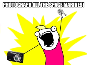 Photograph all the Space Marines! - click to embiggen