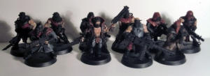Chaos Cultists with Autoguns - click to enlarge