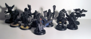 Ordo Xenos Inquisitor and Retinue - click to enlarge