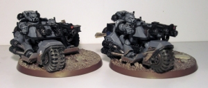 Space Marine Attack Bikes - click to enlarge