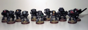 Space Marines with Plasma weaponry - click to enlarge