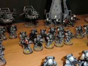 Tactical Squad and Sternguard Veterans with Drop Pod - click to enlarge