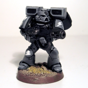 Assault Marine with Meltagun - click to enlarge