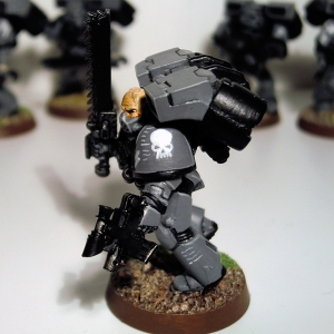Assault Marine Sergeant detail - click to enlarge