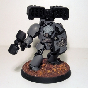 Terminator with Thunder Hammer, Storm Shield and Cyclone Missile Launcher - click to enlarge