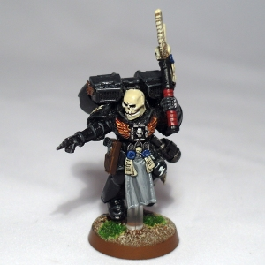 Space Marine Chaplain with jump pack - click to enlarge