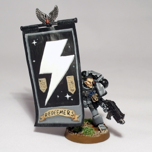 Space Marine Standard Bearer - click to enlarge