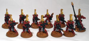 Eldar Fire Dragons - click to enlarge