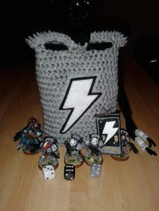 My custom dice bag made by The Dice Bag Lady - click to enlarge