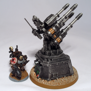 Wolf Guard Battle Leader and Quad Gun (work in progress) - click to enlarge
