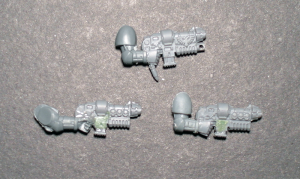 Grav Gun and converted Combi-Grav Guns - click to enlarge