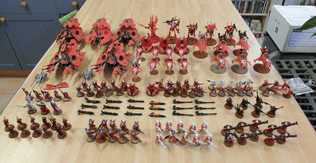 All of the Eldar I own as of January 2014 - click to enlarge