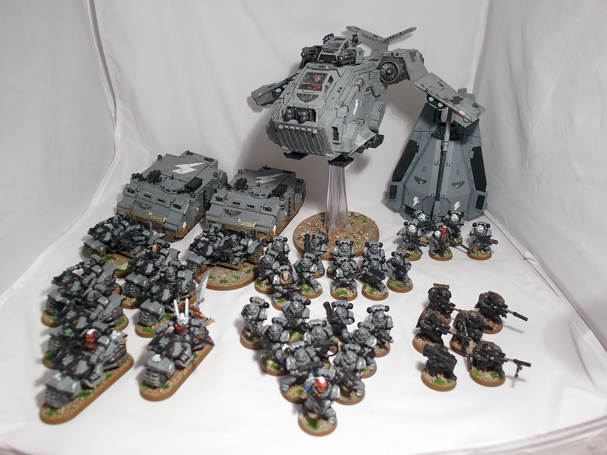 1250pt Space Marine force - click to enlarge