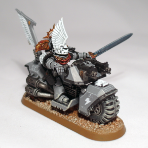 Space Marine Captain on Bike - click to enlarge