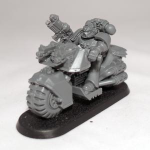 Space Marine Sergeant with Combi-Grav Gun on Bike (work in progress) - click to enlarge