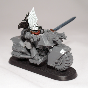 Space Marine Captain on Bike (work in progress) - click to enlarge