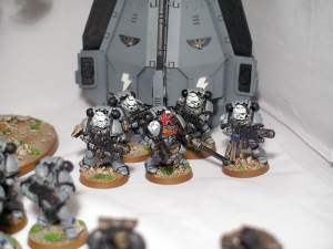 Space Marine Sternguard Veterans and Drop Pod - click to enlarge