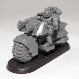 Space Marine Biker with Grav Gun (work in progress) - click to enlarge