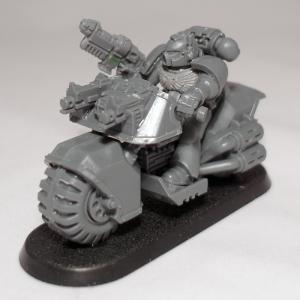 Space Marine Biker with Grav Gun (work in progress) - click to enlarge