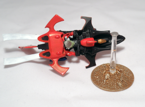 Autarch on Jetbike with magnetised flying stand - click to enlarge