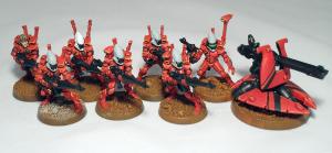 Eldar Guardians (work in progress) - click to enlarge