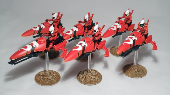 Eldar Windrider Jetbike Squadron - click to enlarge