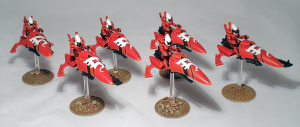 Eldar Windrider Jetbike Squadron - click to enlarge