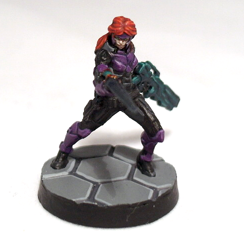 Myrmidon Officer with Boarding Shotgun - click to enlarge