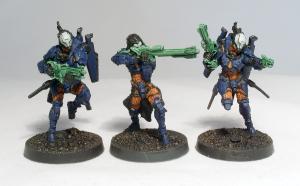 Gao Tarsos with HMG, Gao Rael Sniper and Gao Tarsos with Combi Rifle (work in progress) - click to enlarge