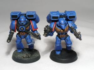 Ultramarine Assault Marines (work in progress) - click to enlarge