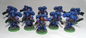 Ultramarines 3rd Company Assault Squad - click to enlarge