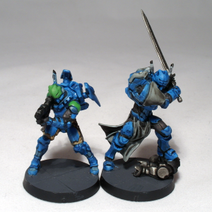 Akal Commando and Father Knight commission (work in progress) - click to enlarge