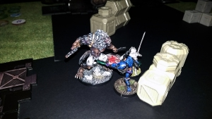 Ectros vs Dog Warrior and Wulver - click to enlarge