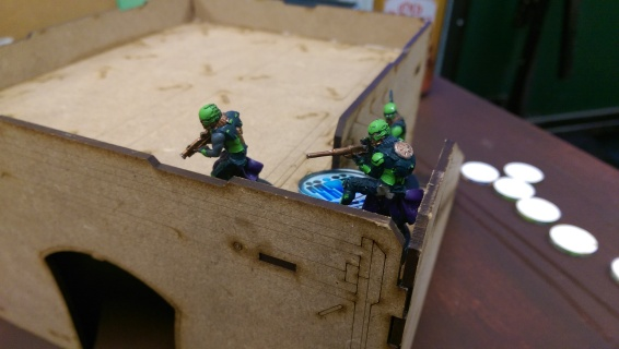 Will's Order Sergeant Link Team gives covering fire