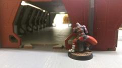 Darren's other Morlock prepares to advance down a corridor