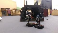 Two of Darren's Morlocks prepare to enter the tunnels