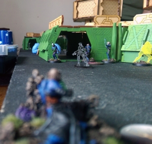 Game 1: The Nikoul opens fire at the Karakuri - click to enlarge