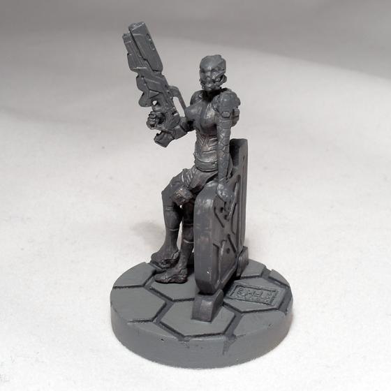 Posthuman Mk2 Hacker with Boarding Shotgun (work in progress) - click to enlarge