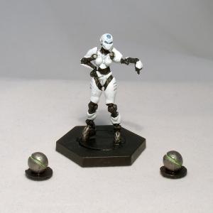 Dreadball Refbot and balls - click to enalrge