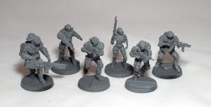 Blackstone Commandos team (work in progress) - click to enlarge