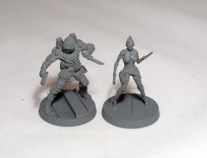 Cyborg Hunter and Sylvia Almarez (work in progress) - click to enlarge