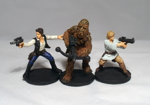 Han Solo, Chewbacca and Luke Skywalker (work in progress) - click to enlarge