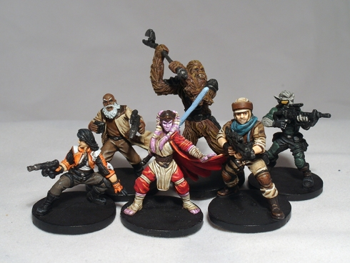 Just some of the many wonderful models in Imperial Assault