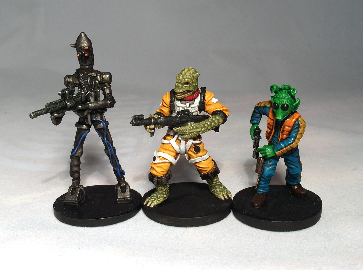 IG-88, Bossk and Greedo - click to enlarge
