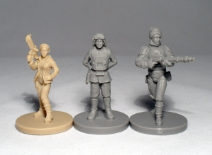 Princess Leia, General Sorin and Dengar - click to enlarge