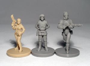 Princess Leia, General Sorin and Dengar - click to enlarge