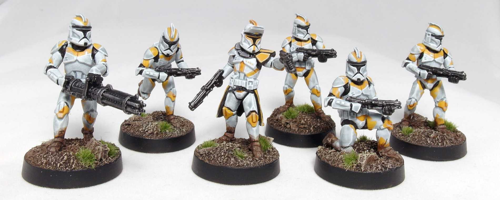 Phase 1 Clone Troopers with Clone Captain